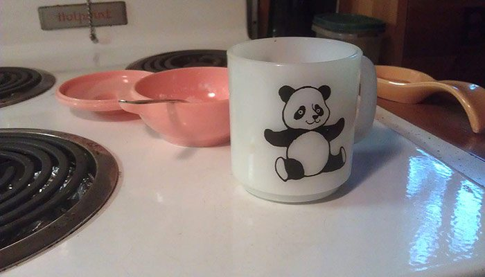 Panda Has Been Around For A Long Time. I Drink My Hot Coffee With Him In The Mornings.
