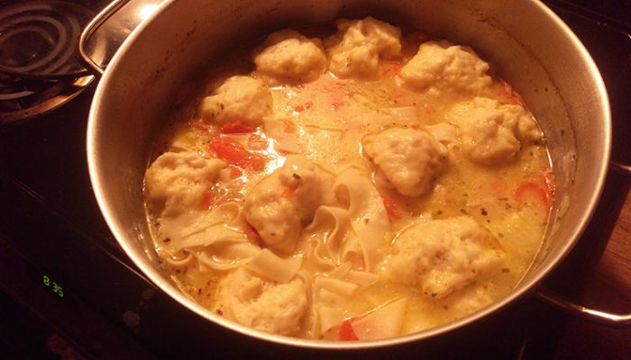 Chicken Noodle Soup With Dumplings