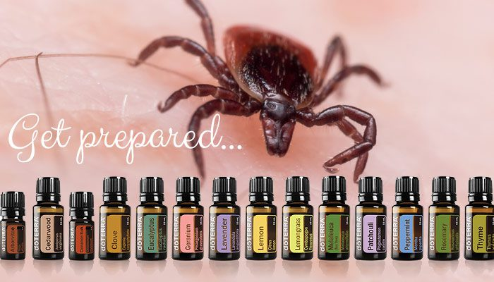 DoTERRA Essential Oil Bottles Over Image Of A Deer Tick