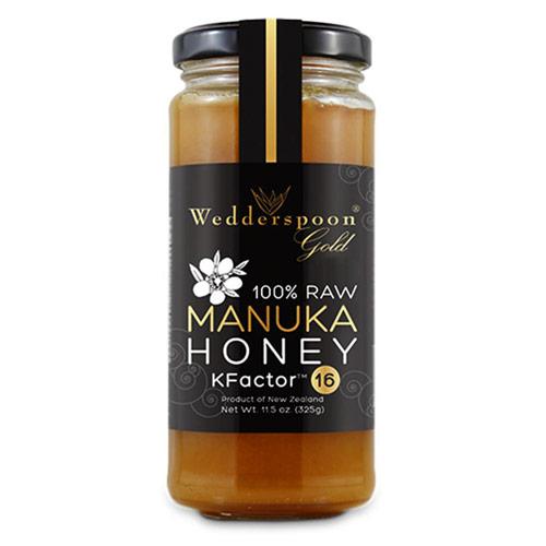 Jar of Wedderspoon's Manuka honey