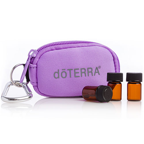 doTERRA purple 8-Vial Essential Oil Key Chain and 10ml vials