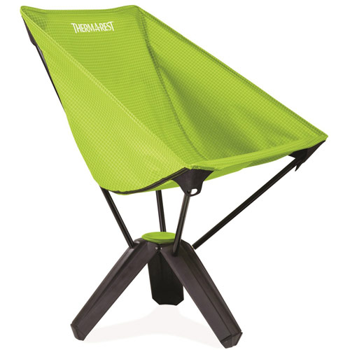 Green and black compact folding chair